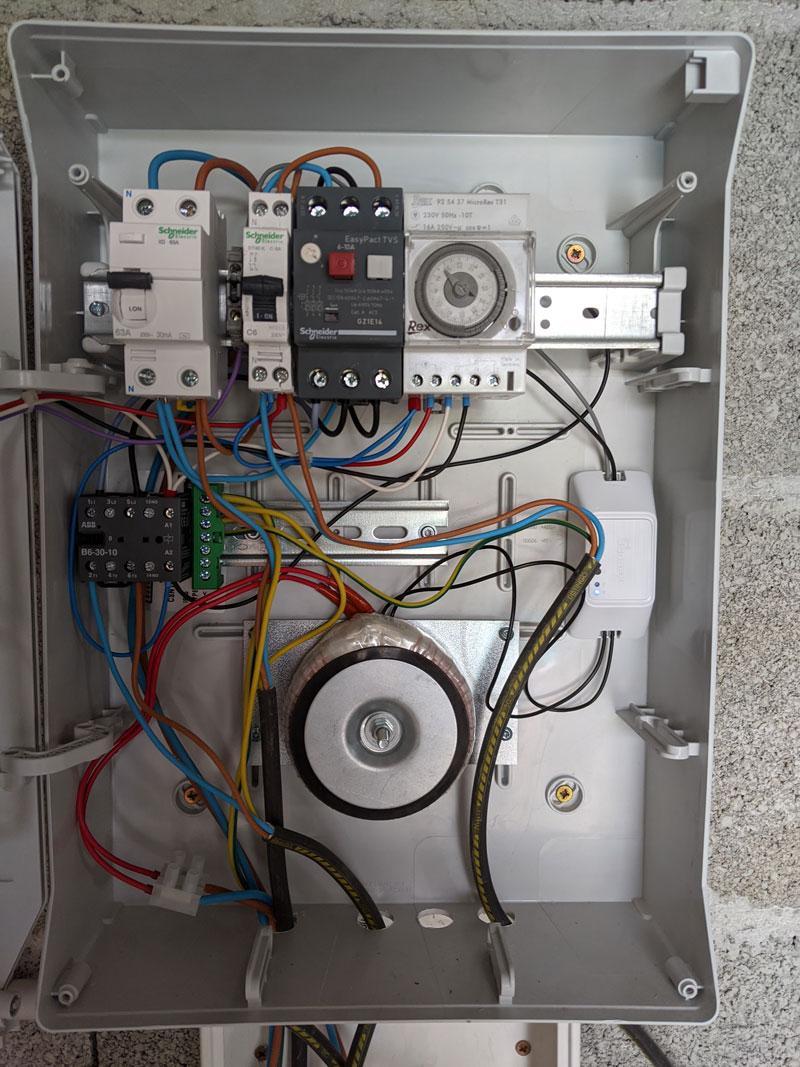 installation sonoff coffret électrique
